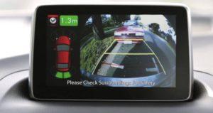 Дисплей системы парковки в автомобиле