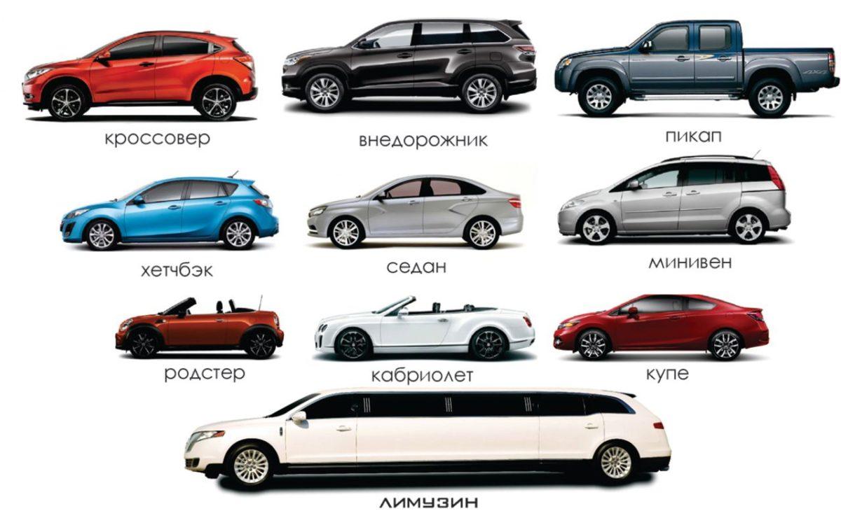 Типы кузовов легковых автомобилей